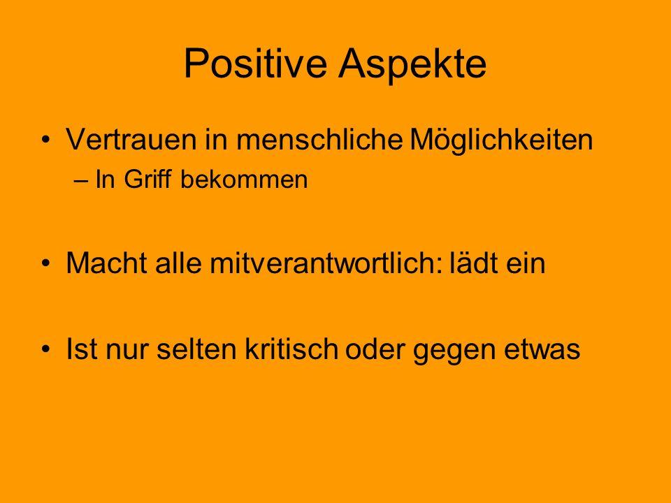 Positive Aspekte Vertrauen in menschliche Möglichkeiten