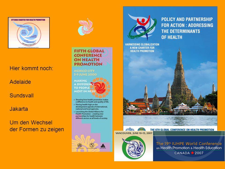 Hier kommt noch: Adelaide Sundsvall Jakarta Um den Wechsel der Formen zu zeigen