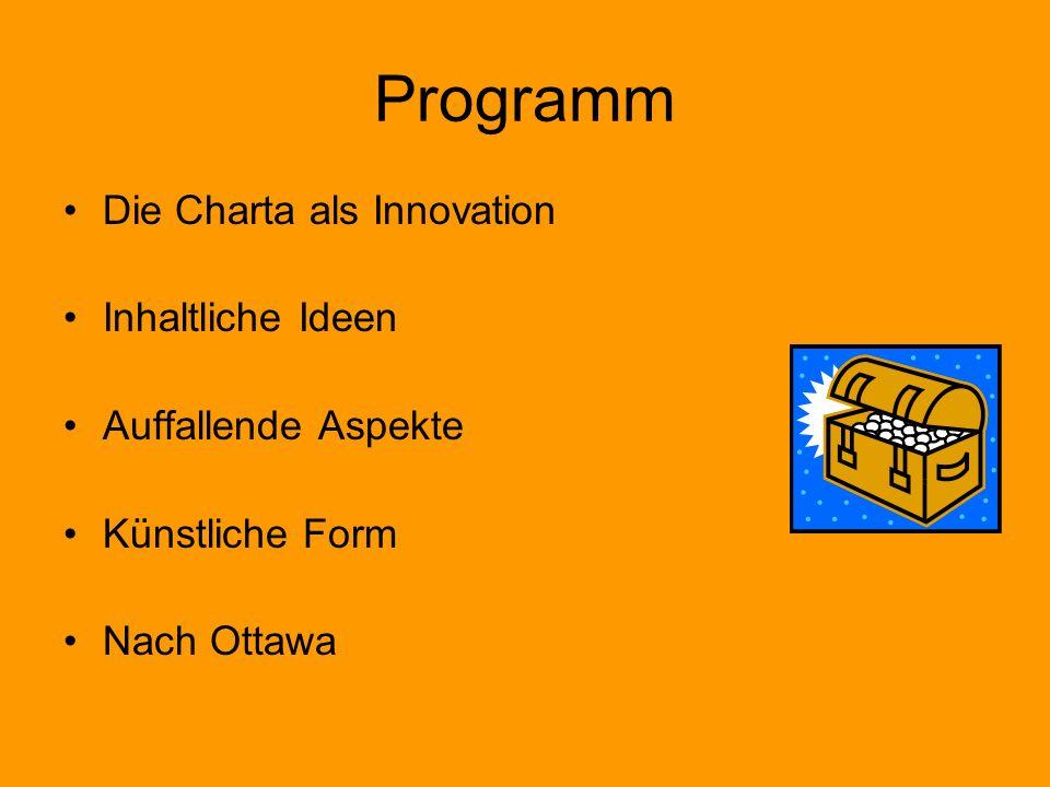 Programm Die Charta als Innovation Inhaltliche Ideen