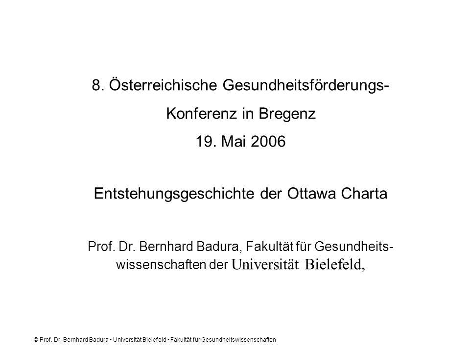 8. Österreichische Gesundheitsförderungs- Konferenz in Bregenz