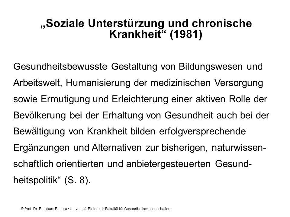 """""""Soziale Unterstürzung und chronische Krankheit (1981)"""