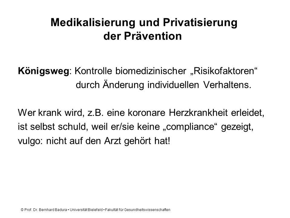 Medikalisierung und Privatisierung der Prävention