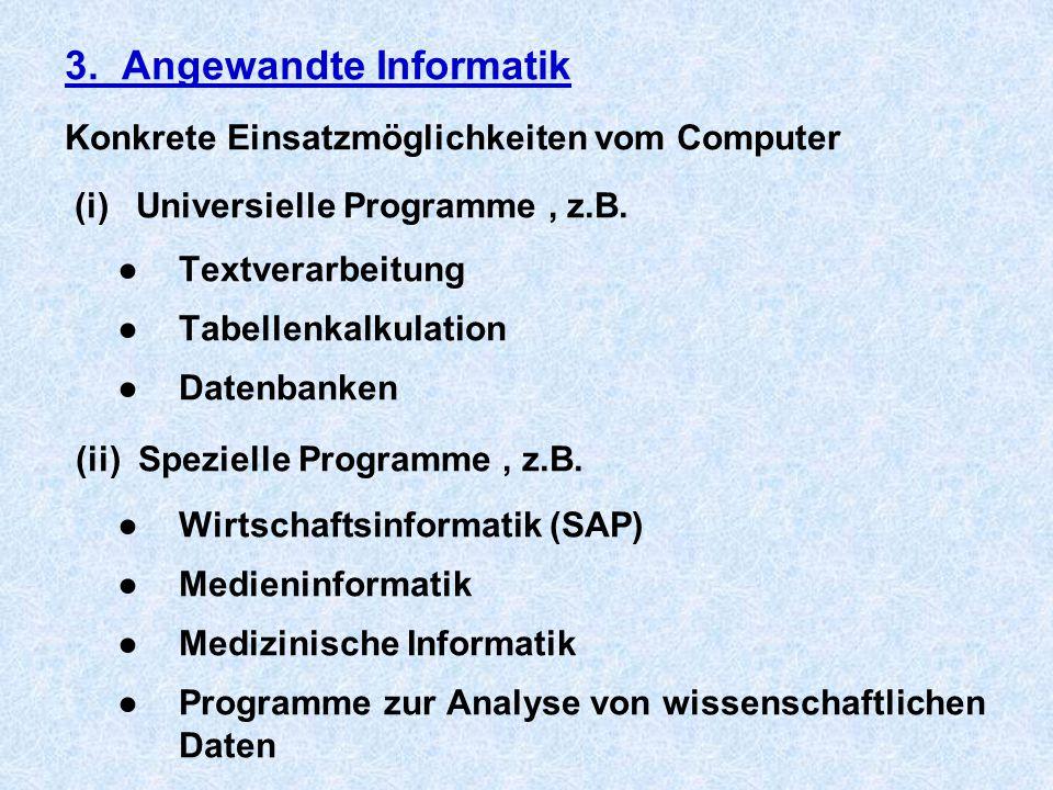 3. Angewandte Informatik