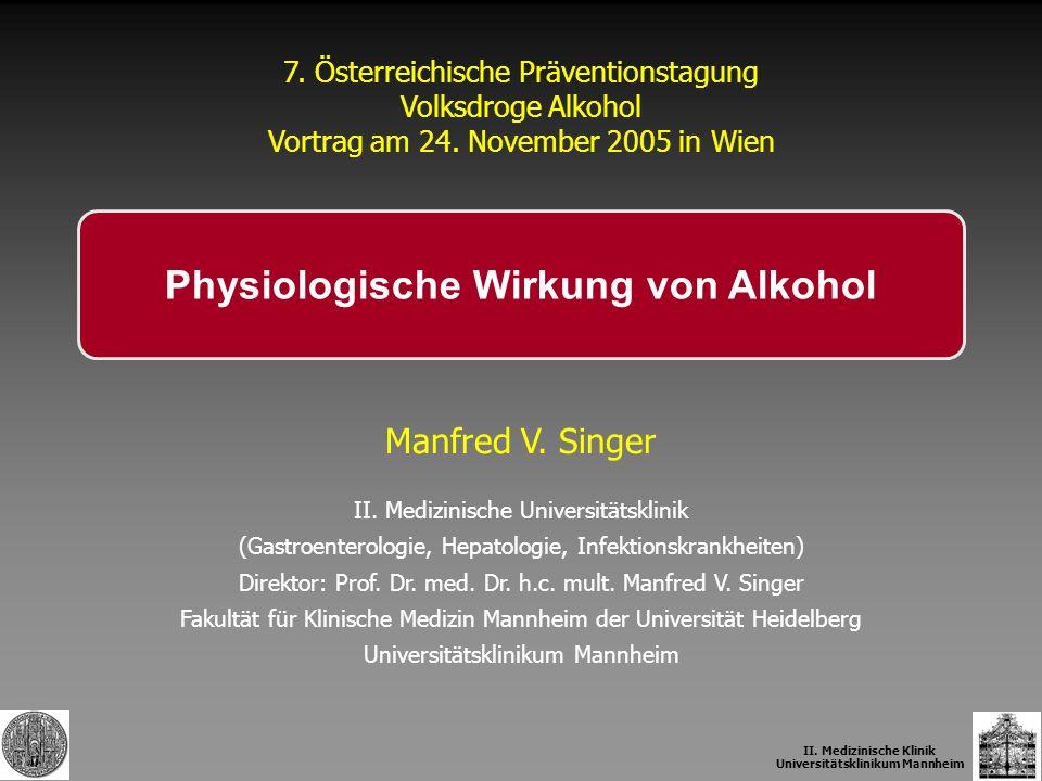 Physiologische Wirkung von Alkohol