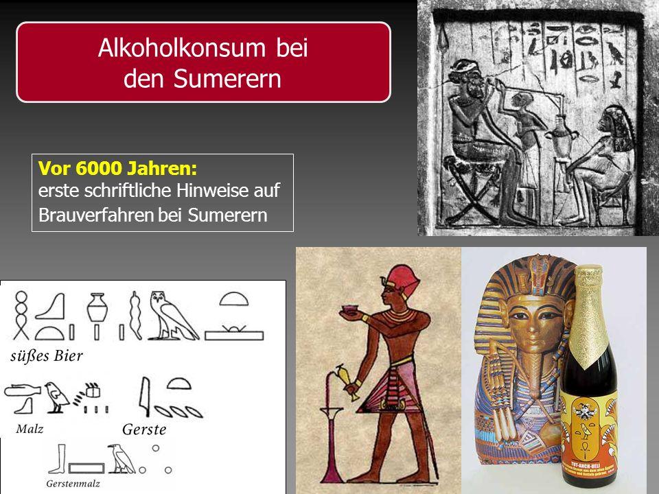 Alkoholkonsum bei den Sumerern