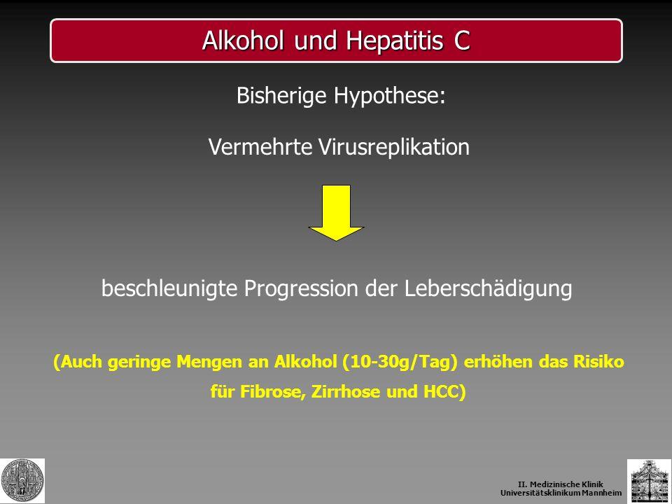 Alkohol und Hepatitis C