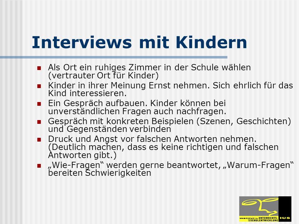 Interviews mit Kindern