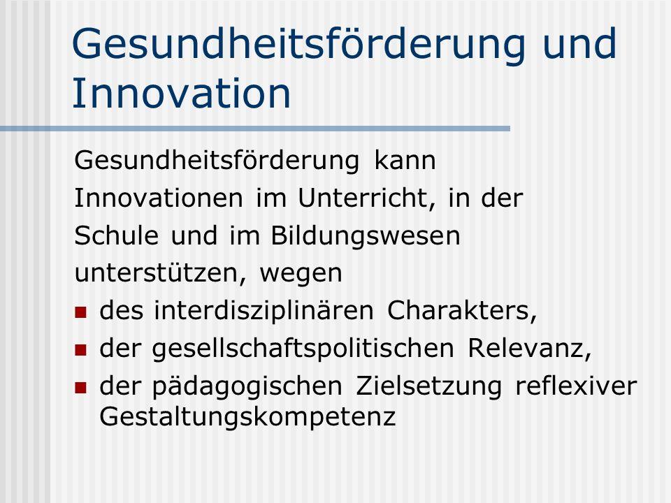 Gesundheitsförderung und Innovation
