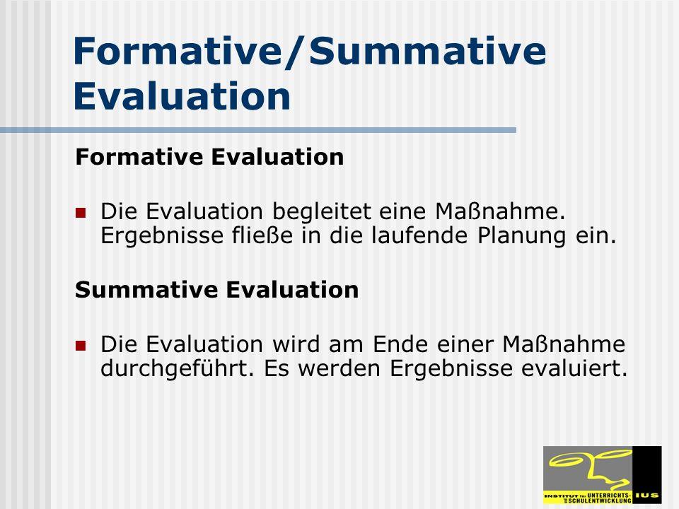 Formative/Summative Evaluation