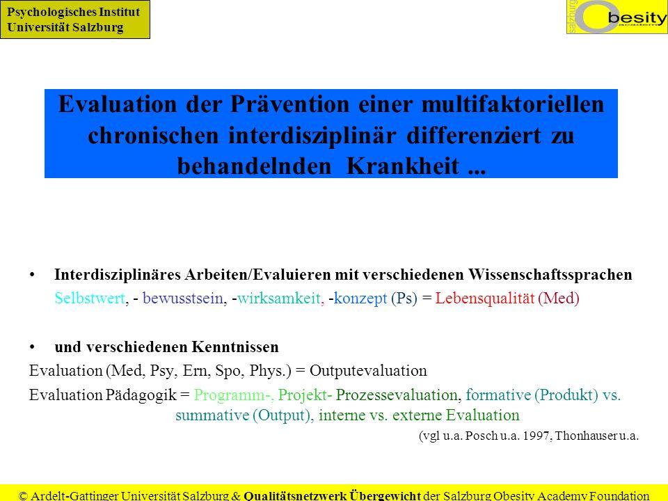 Evaluation der Prävention einer multifaktoriellen chronischen interdisziplinär differenziert zu behandelnden Krankheit ...