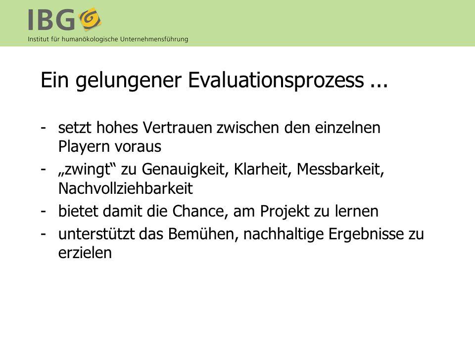 Ein gelungener Evaluationsprozess ...