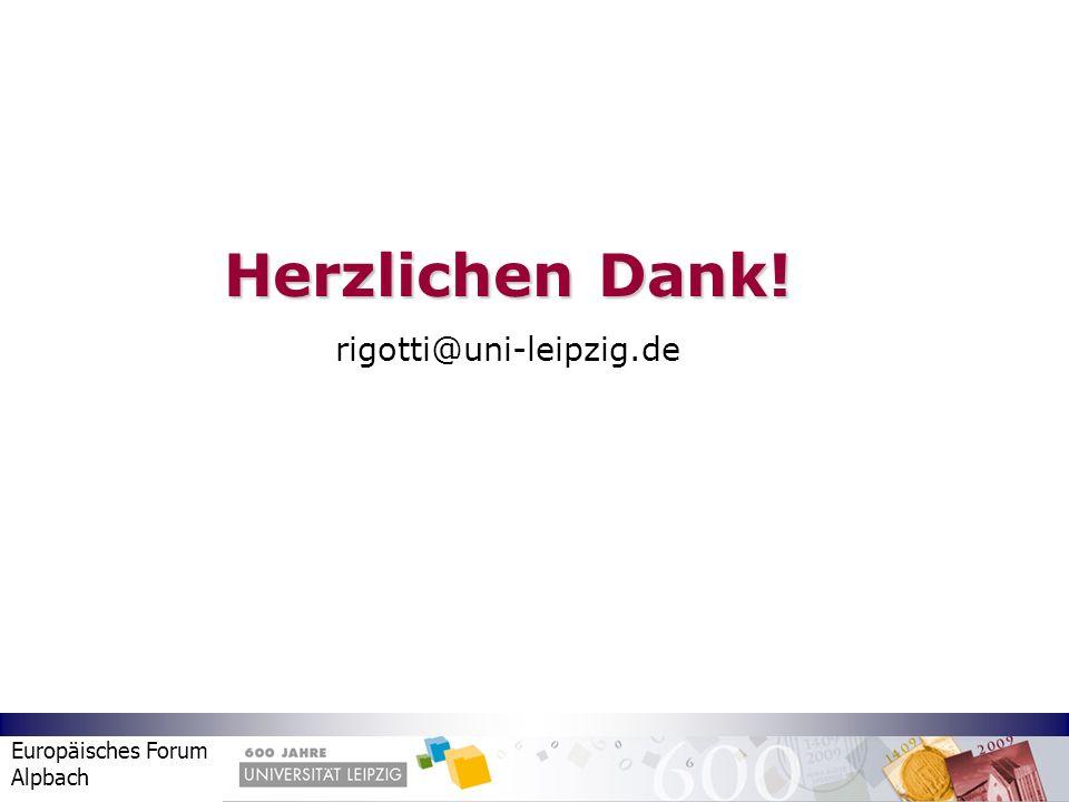 Herzlichen Dank! rigotti@uni-leipzig.de