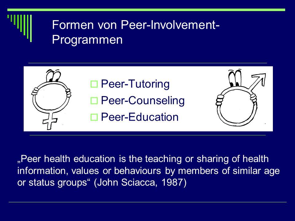 Formen von Peer-Involvement-Programmen