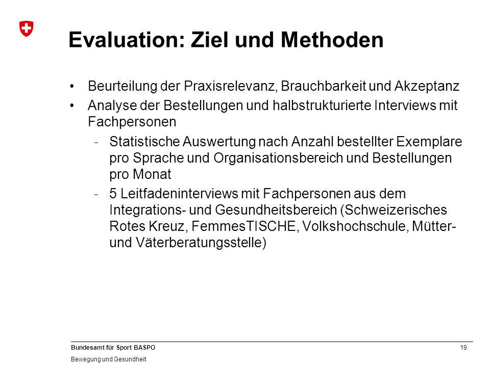 Evaluation: Ziel und Methoden