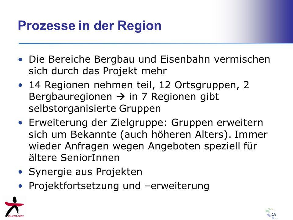 Prozesse in der RegionDie Bereiche Bergbau und Eisenbahn vermischen sich durch das Projekt mehr.