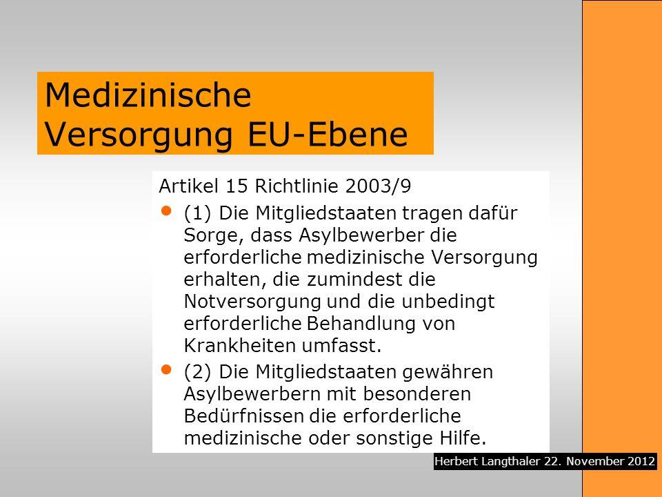 Medizinische Versorgung EU-Ebene