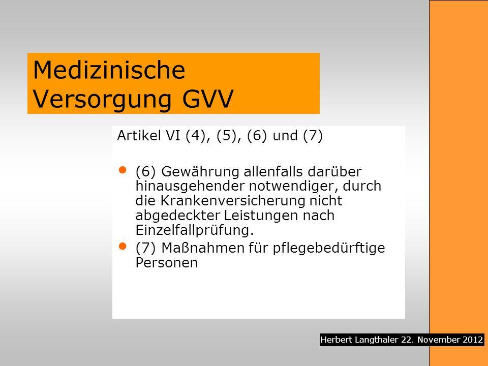 Medizinische Versorgung GVV
