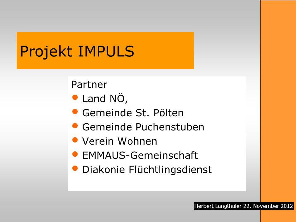 Projekt IMPULS Partner Land NÖ, Gemeinde St. Pölten