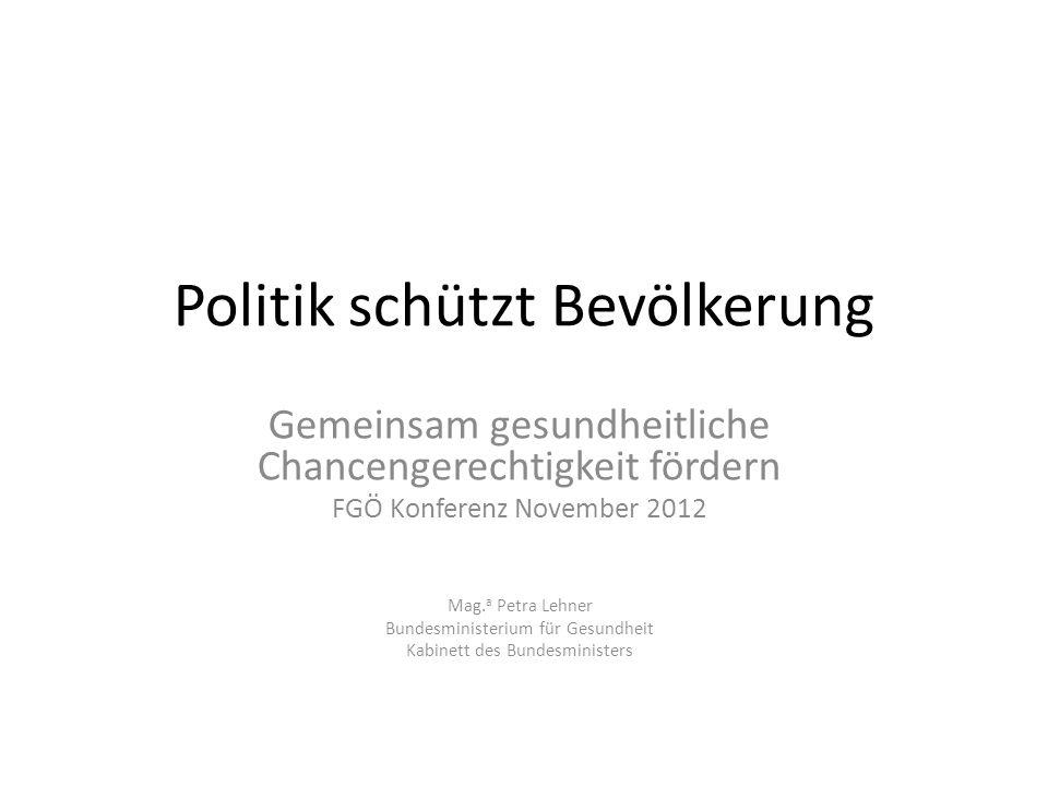Politik schützt Bevölkerung