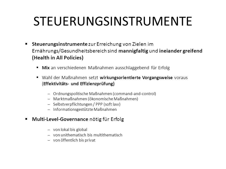 STEUERUNGSINSTRUMENTE