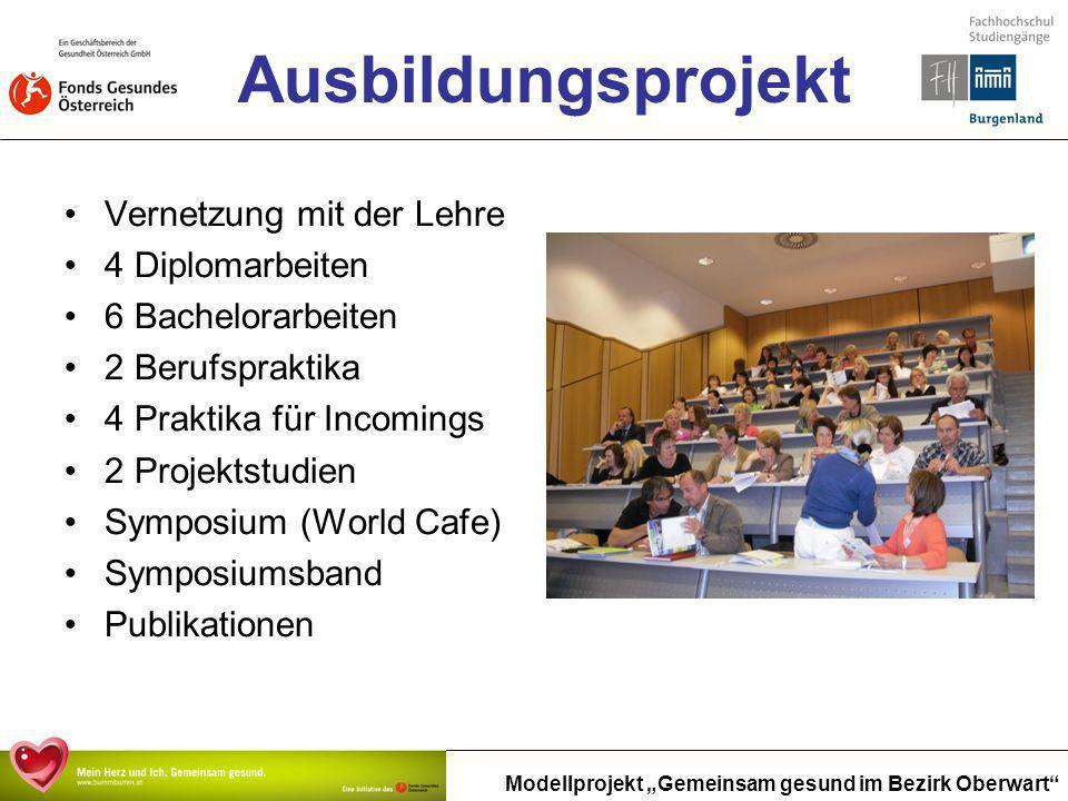 Ausbildungsprojekt Vernetzung mit der Lehre 4 Diplomarbeiten