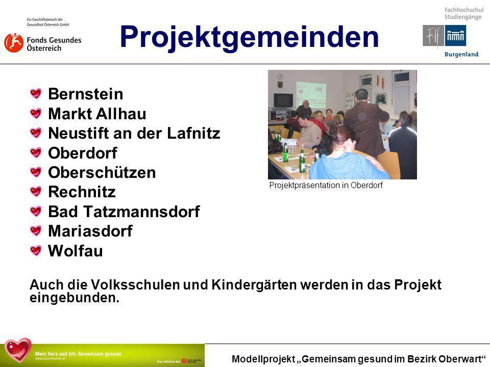 Projektgemeinden Bernstein Markt Allhau Neustift an der Lafnitz