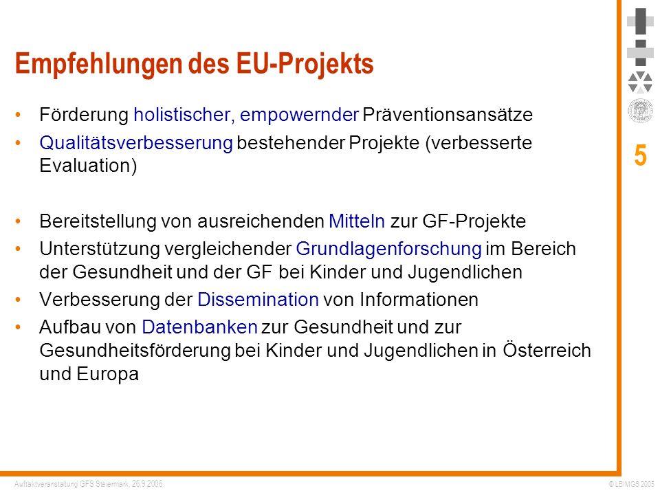 Empfehlungen des EU-Projekts