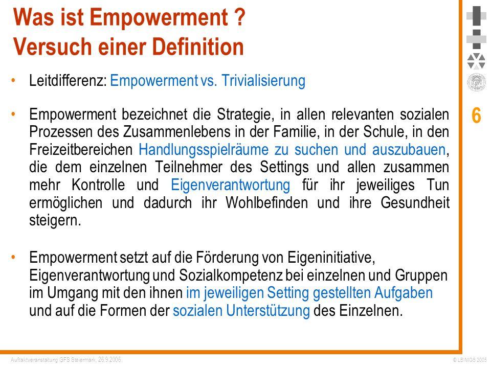 Was ist Empowerment Versuch einer Definition