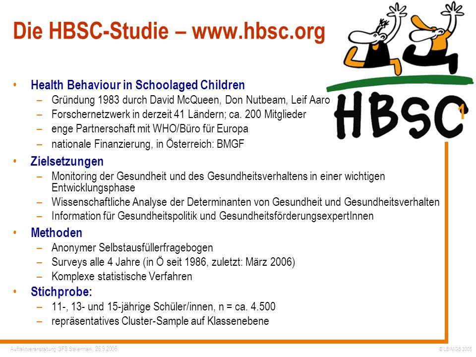 Die HBSC-Studie – www.hbsc.org