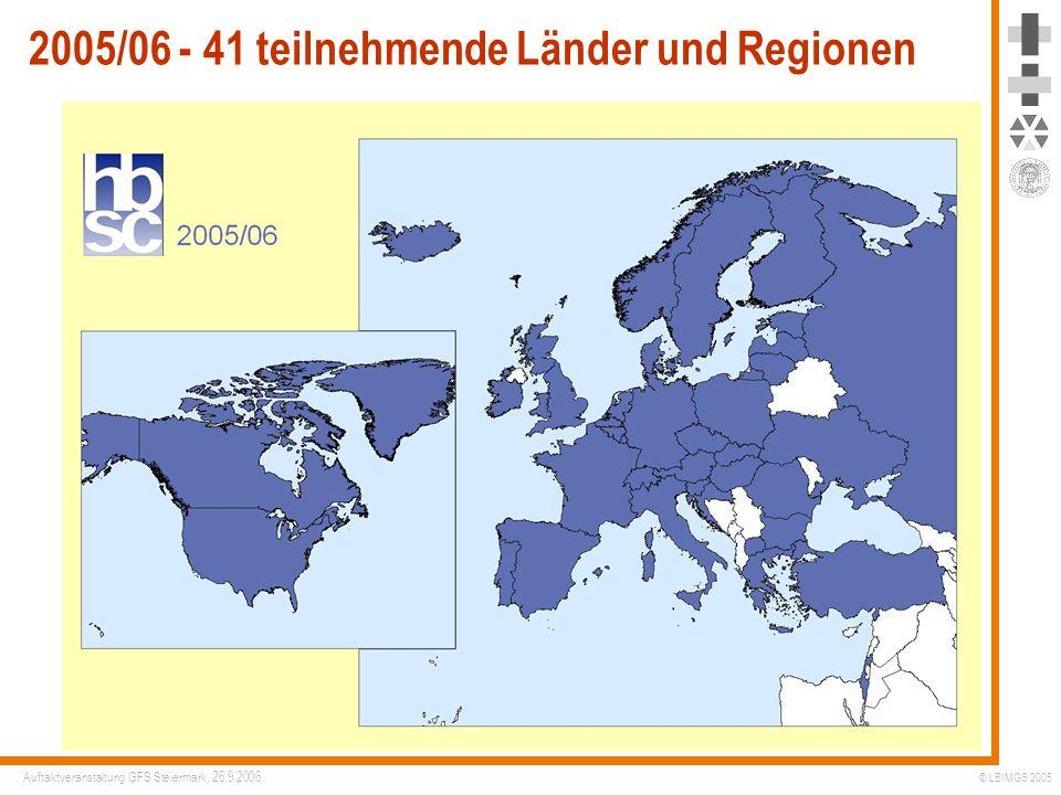2005/06 - 41 teilnehmende Länder und Regionen