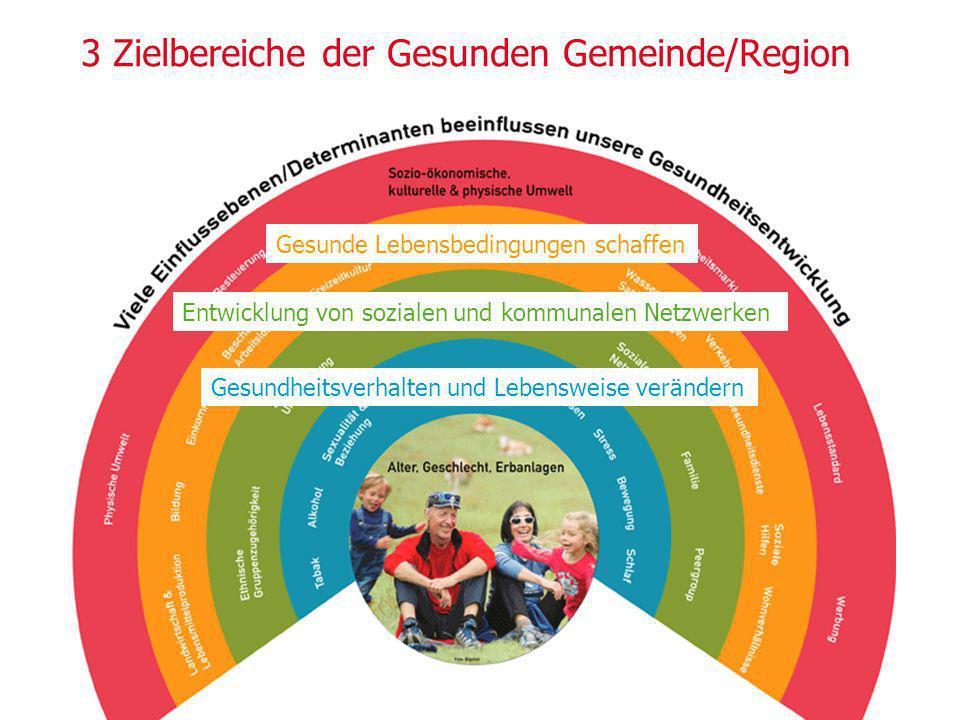 3 Zielbereiche der Gesunden Gemeinde/Region