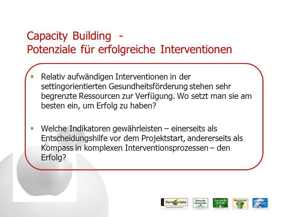 Capacity Building - Potenziale für erfolgreiche Interventionen