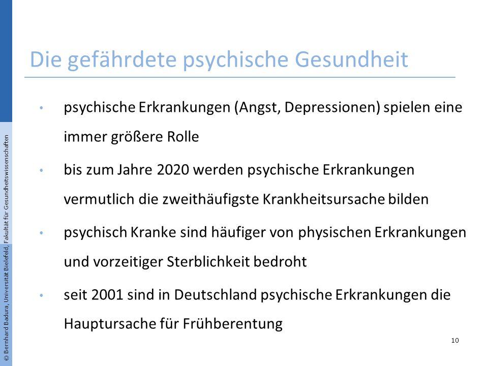 Die gefährdete psychische Gesundheit