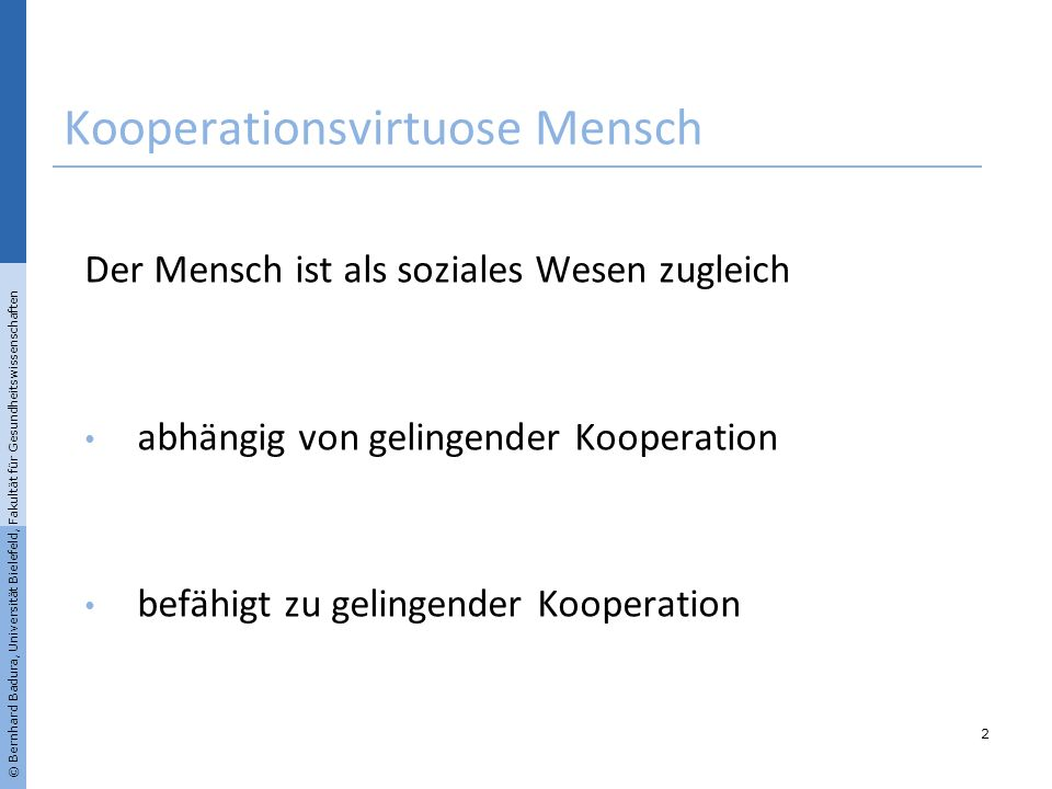 Kooperationsvirtuose Mensch