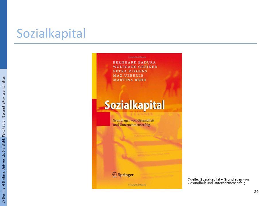 Sozialkapital © Bernhard Badura, Universität Bielefeld, Fakultät für Gesundheitswissenschaften.