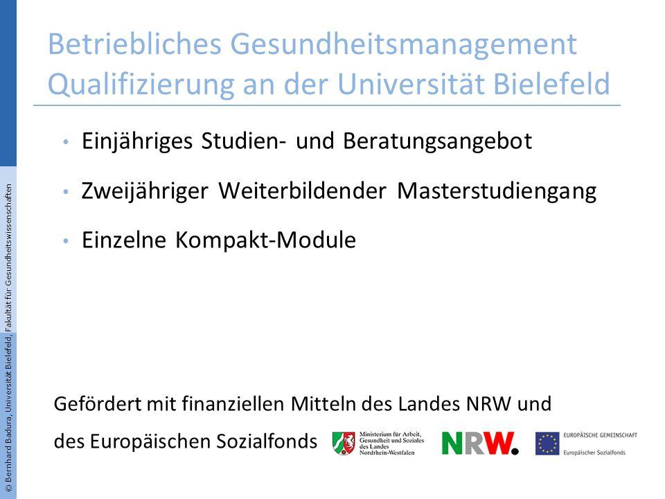 Betriebliches Gesundheitsmanagement Qualifizierung an der Universität Bielefeld