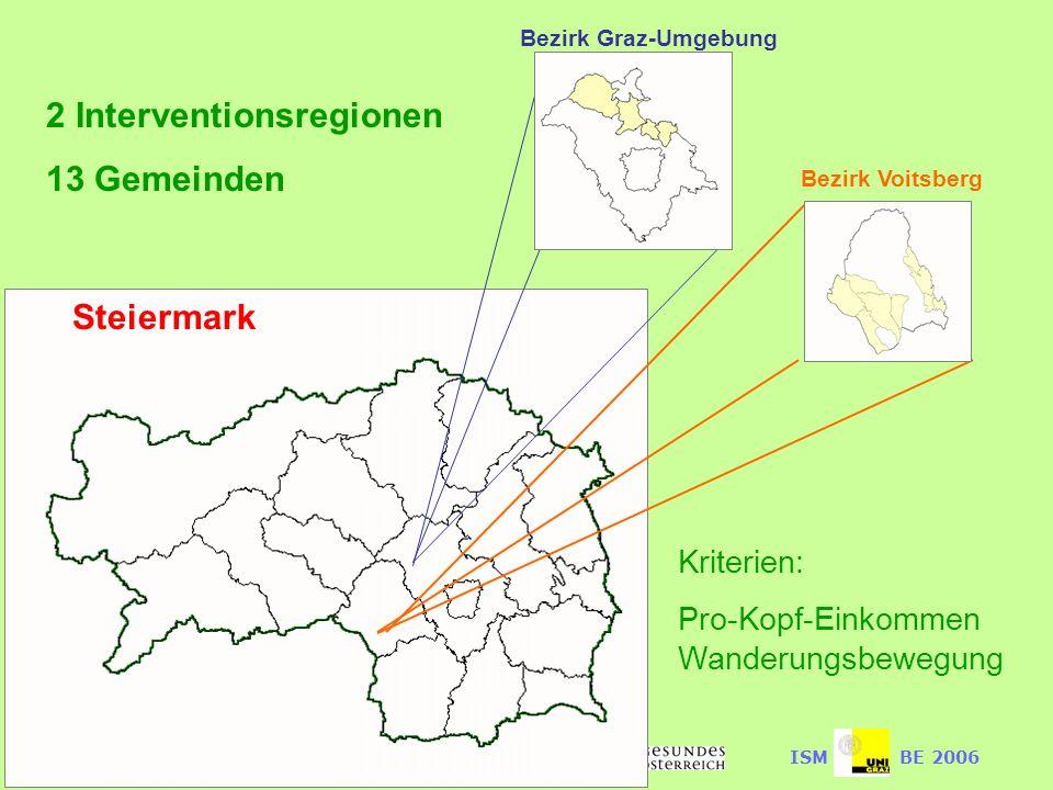 2 Interventionsregionen 13 Gemeinden