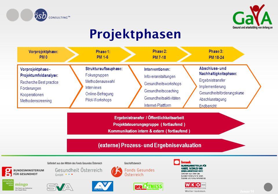 Projektphasen (externe) Prozess- und Ergebnisevaluation