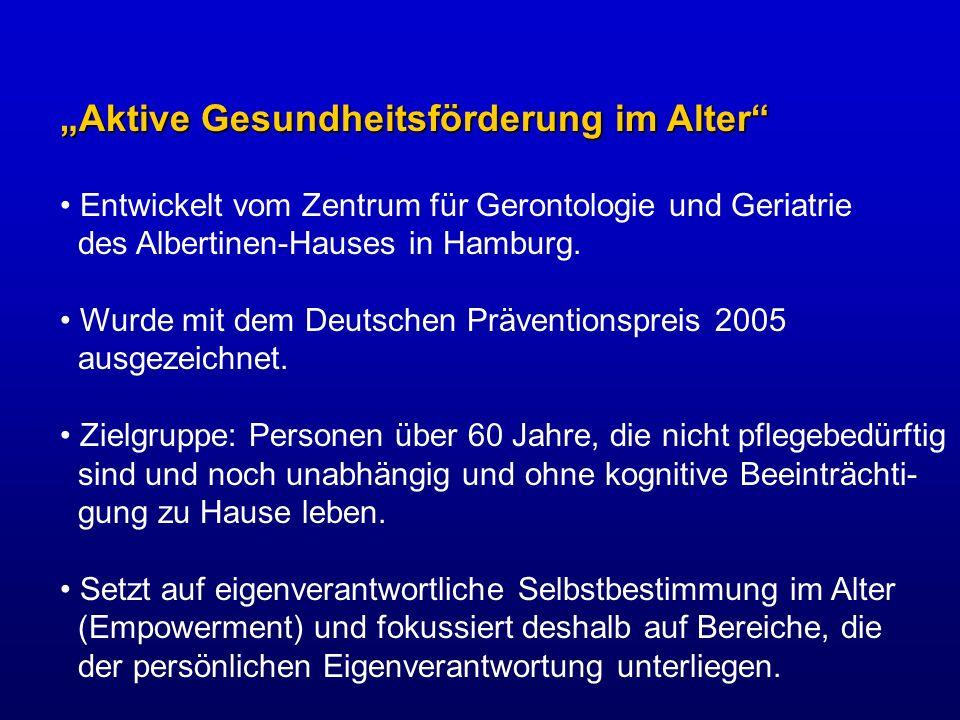 """""""Aktive Gesundheitsförderung im Alter"""
