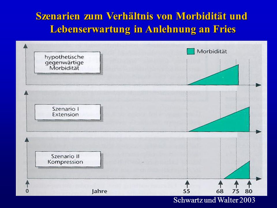 Szenarien zum Verhältnis von Morbidität und