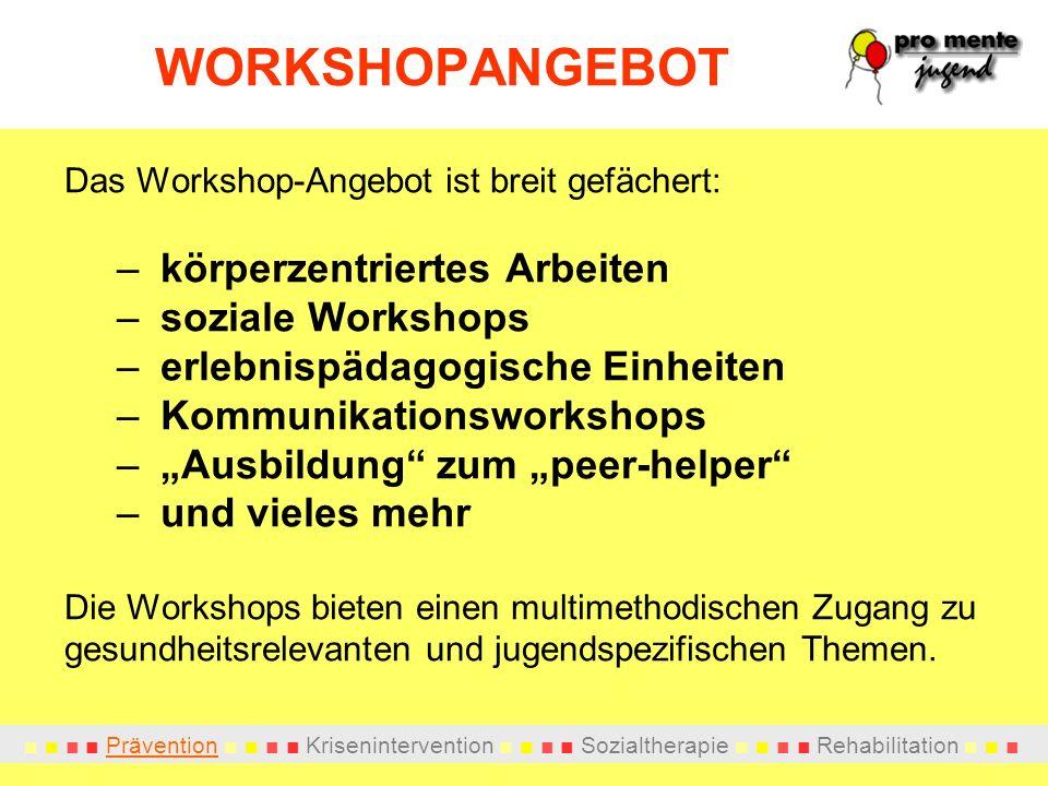 WORKSHOPANGEBOT körperzentriertes Arbeiten soziale Workshops