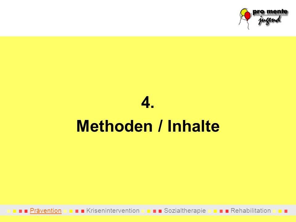 4. Methoden / Inhalte