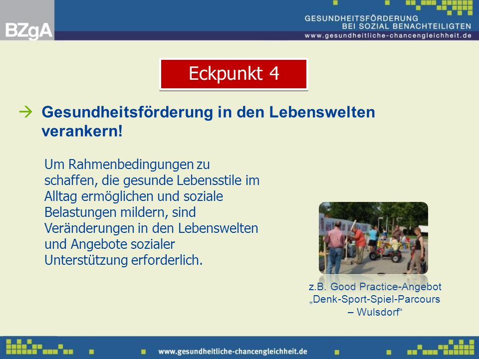 "z.B. Good Practice-Angebot ""Denk-Sport-Spiel-Parcours – Wulsdorf"