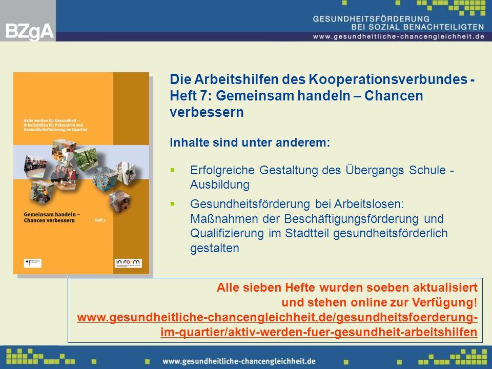 Die Arbeitshilfen des Kooperationsverbundes - Heft 7: Gemeinsam handeln – Chancen verbessern