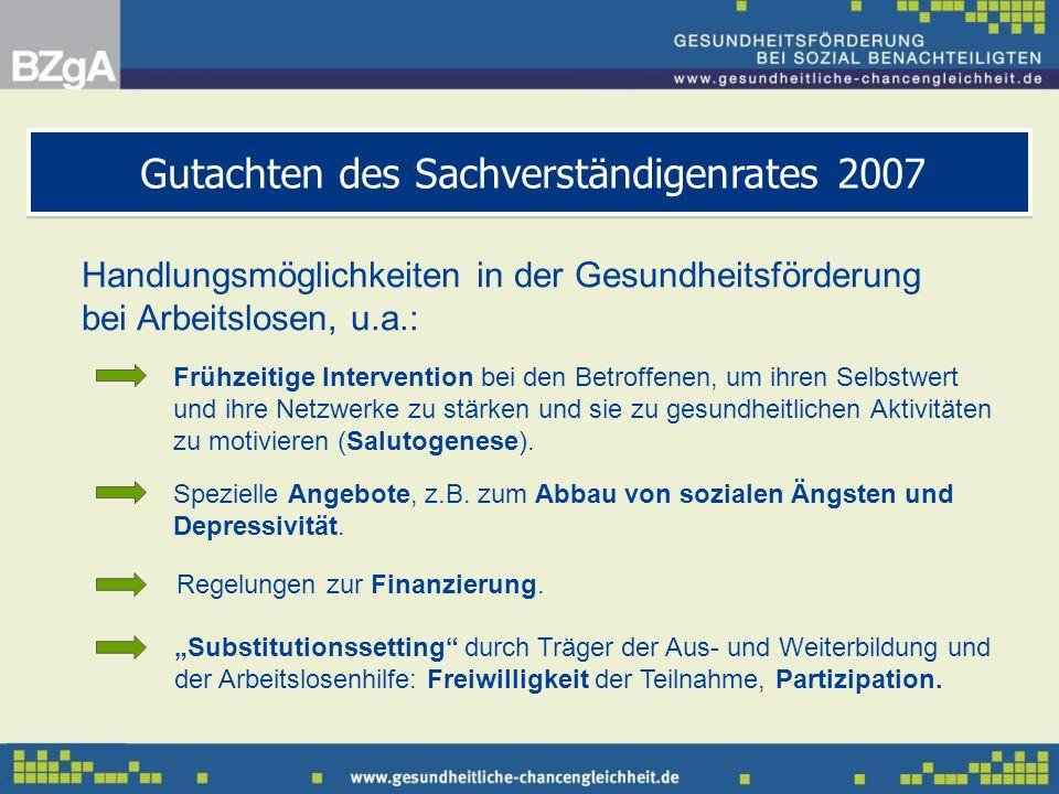Gutachten des Sachverständigenrates 2007