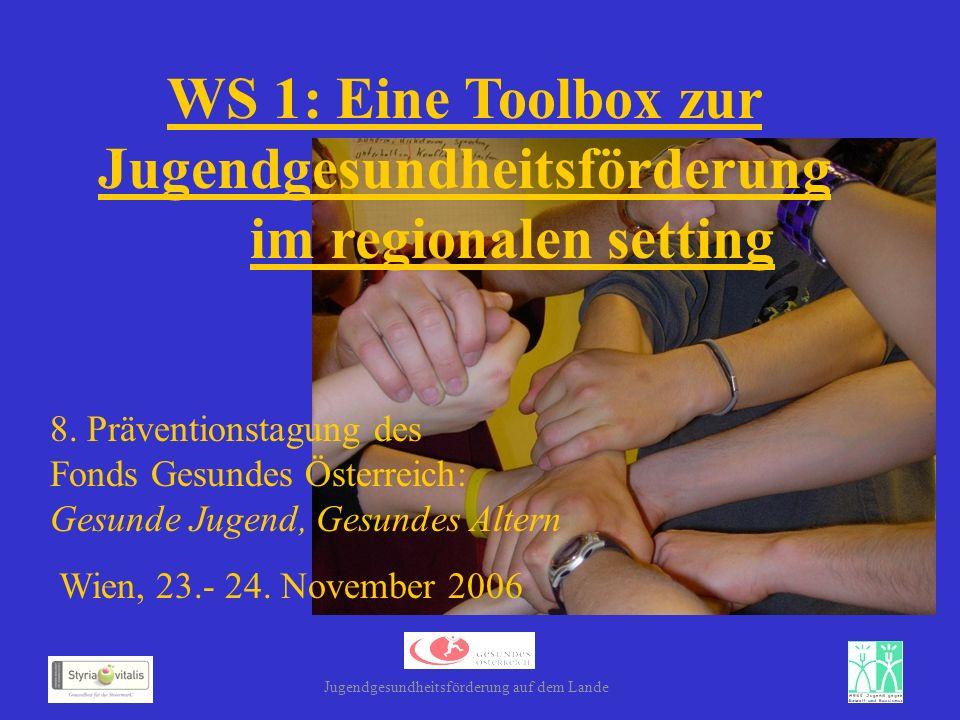 WS 1: Eine Toolbox zur Jugendgesundheitsförderung