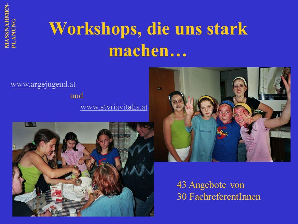 Workshops, die uns stark machen…