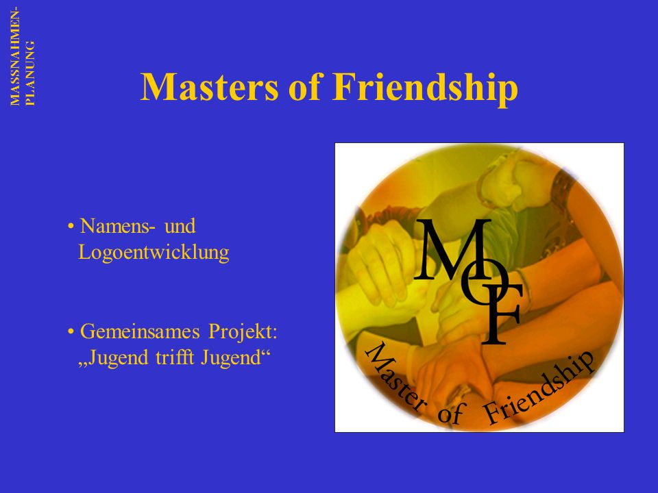 Masters of Friendship Namens- und Logoentwicklung