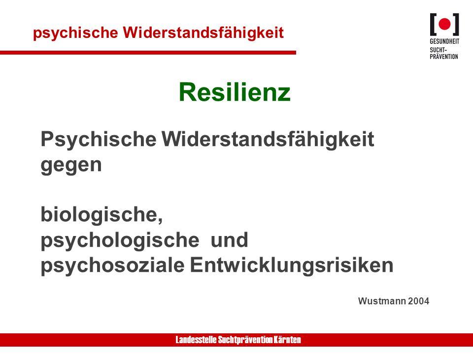 Resilienz Psychische Widerstandsfähigkeit gegen biologische,