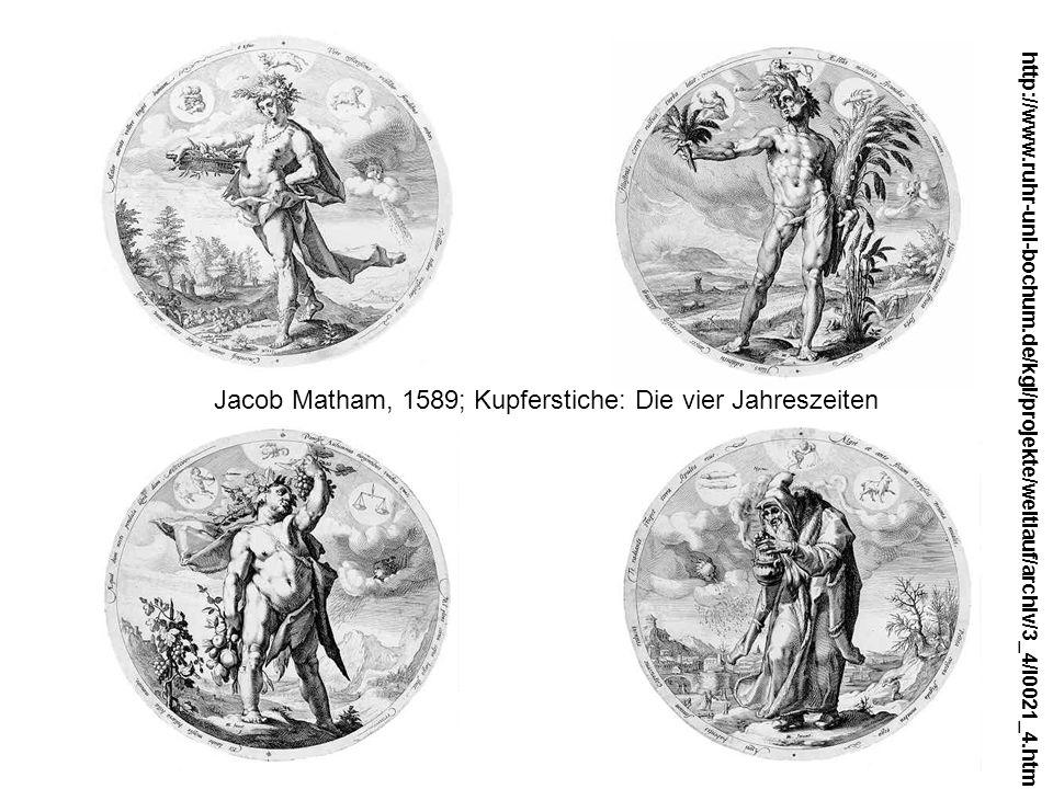 Jacob Matham, 1589; Kupferstiche: Die vier Jahreszeiten